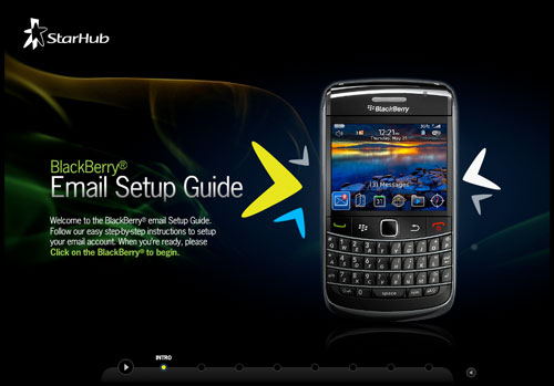 StarHub BlackBerry Email Setup Guide